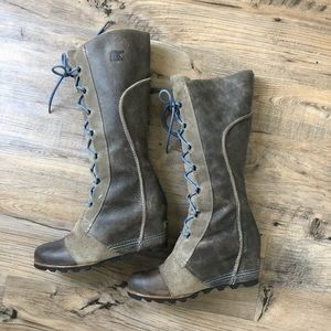 Sorel Boots Cate Great Wedge Winter Tall Lace 11
